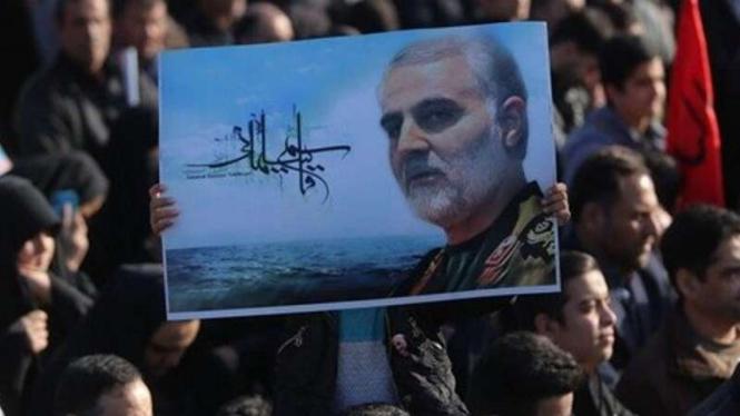 VIVA Militer: Foto mendiang Letnan Jenderal Qassem Soleimani