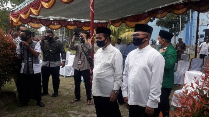 Peserta calon pasangan Pilkada Bangka Tengah (antara)