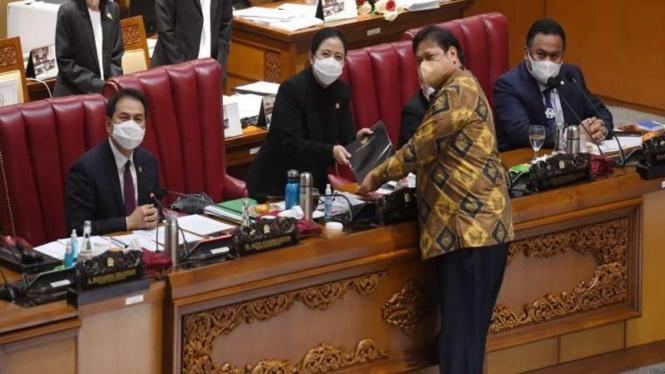Pengesahan UU Cipta Kerja di DPR 5 Oktober 2020.