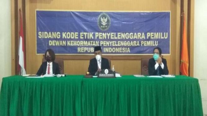 Ilustrasi DKPP menggelar sidang kode etik penyelenggaraan pemilu.