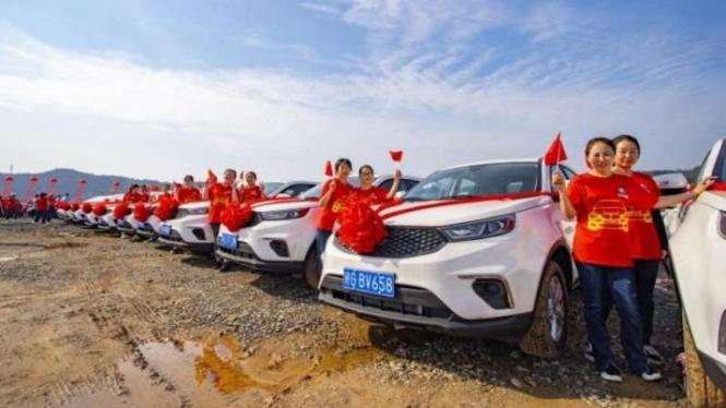 Buruh di Perusahaan Baja di China dapat bonus mobil baru
