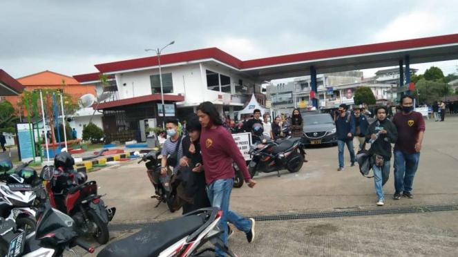 Pendemo omnibus law di Pontianak diamankan polisi