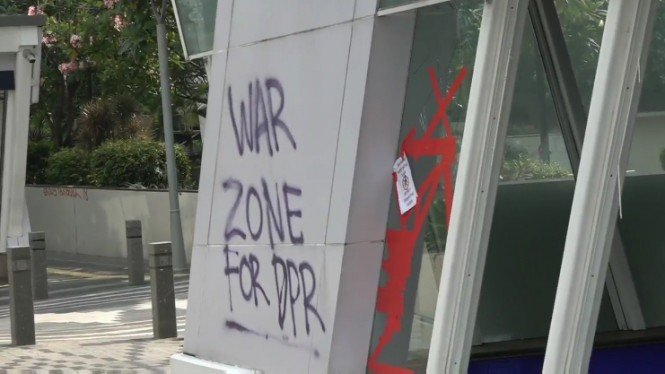 Vandalisme di Stasiun MRT Jakarta