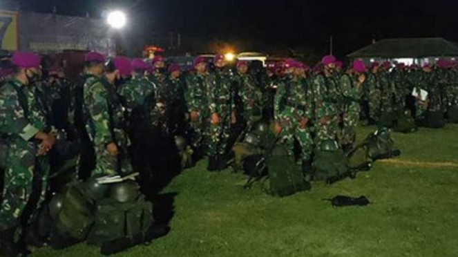 VIVA Militer: Pasukan Marinir TNI dikerahkan amankan Jakarta.