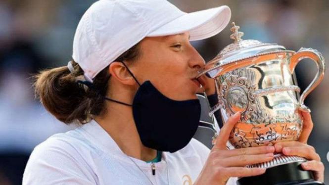 Petenis Polandia, Iga Swiatek juara French Open 2020.