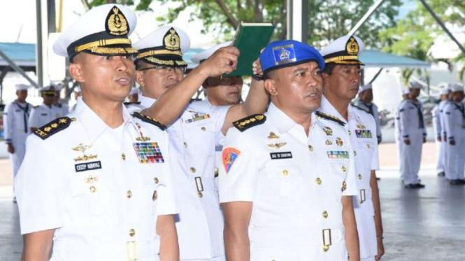 VIVA Militer: Komandan Satran Koarmada II TNI AL, Kolonel Cecep Hidayat.