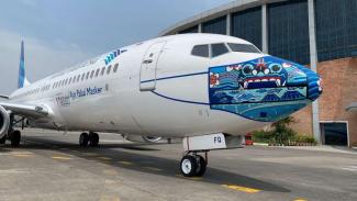 Desain masker baru di Pesawat Garuda Indonesia Bertema 'Indonesia Pride'