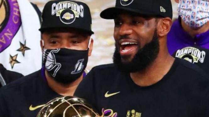 LeBron James juara dan sabet MVP final NBA 2019/20.
