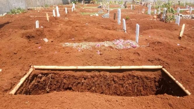 Lahan permakaman (Foto ilustrasi).