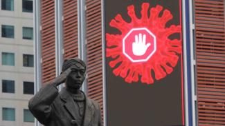 Pemberlakuan Kembali PSBB Masa Transisi di Jakarta__Kendaraan di Sudirman