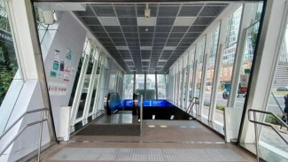 Stasiun MRT yang dirusak pendemo Omnibus Law di Setiabudi sudah diperbaiki
