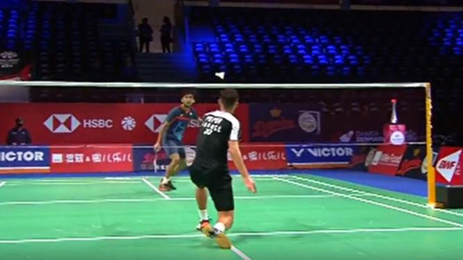 VIVA Bulutangkis: Pertandingan Denmark Open, Lakshya Sen vs Popov Christo.