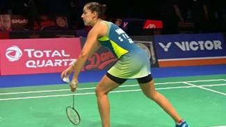 VIVA Bulutangkis: Penampilan Carolina Marin di Denmark Open 2020.