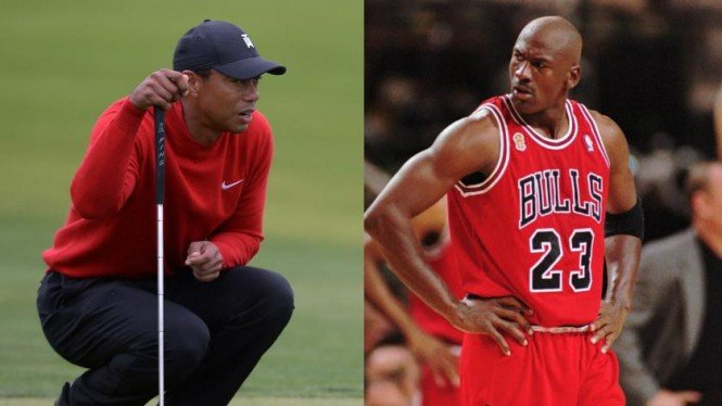 Tiger Woods dan Michael Jordan