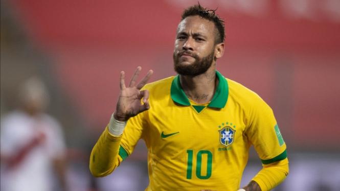 Penyerang Timnas Brasil, Neymar.