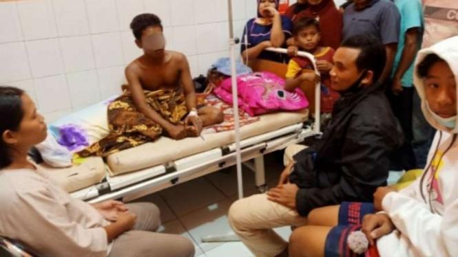 SP saat dirawat di Puskesmas Plampang, Kabupaten Sumbawa.