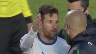 Keributan kapten Argentina, Lionel Messi, dengan pelatih Bolivia, Lucas Nava