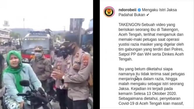 Viral Emak-emak Ngamuk Ditilang, Ngaku Istri Jaksa.