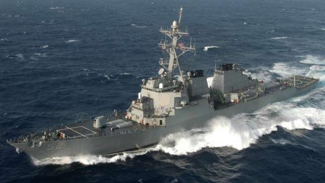 VIVA Militer: Kapal perusak peluru kendali Angkatan Laut AS, USS Barry (DDG-52)