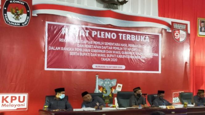 Rapat pleno terbuka KPU Nunukan (antara)