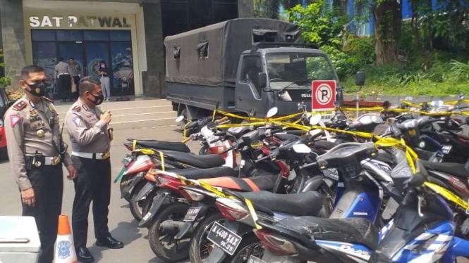 Puluhan Motor Milik Demonstran Omnibus Law Diamankan Polisi