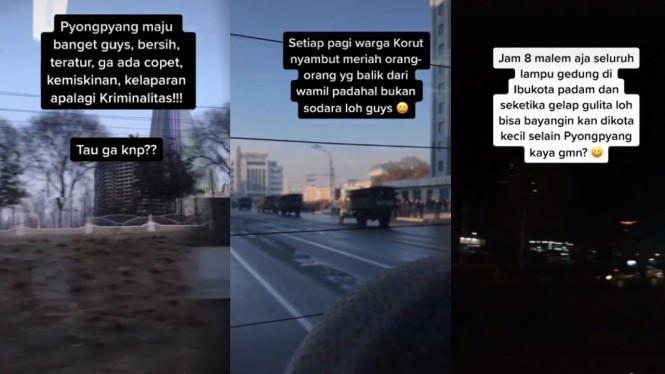Video suasana liburan di Korea Utara.