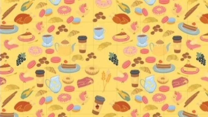Temukan biji pohon ek di gambar.