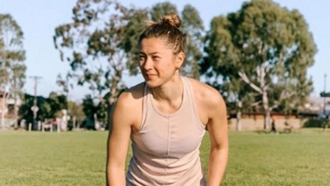 VIVA Bulutangkis: Pemain ganda putri Australia, Gronya Somerville.