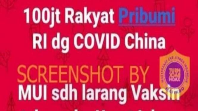 Hoax MUI larang vaksin asal China