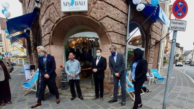 Kedai kopi bernama MyBali Coffee dibuka di kota Nuernberg Jerman