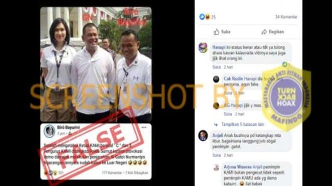 Hoax Gatot Nurmantyo melarikan diri