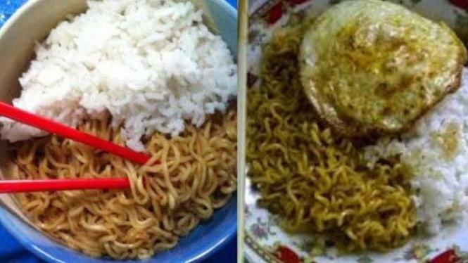 Mie instan dan nasi bahaya jika dimakan bersamaan