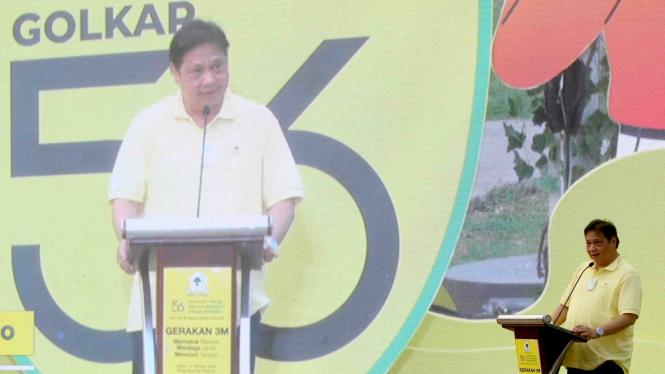Gerakan 3M Partai Golkar, Ketua Umum DPP Partai Golkar Airlangga Hartarto