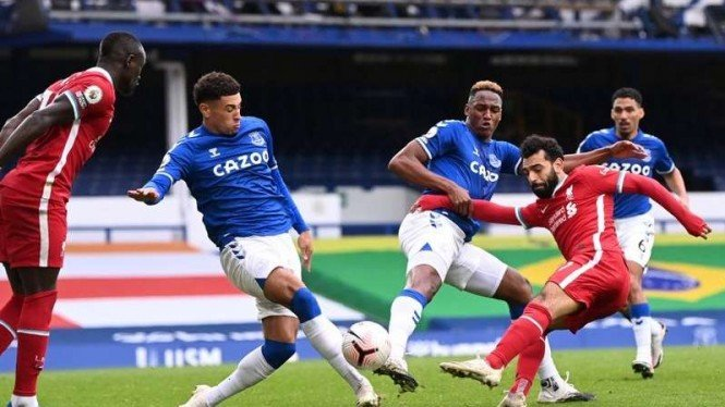 Pertandingan Everton vs Liverpool di lanjutan Premier League 2020/2021