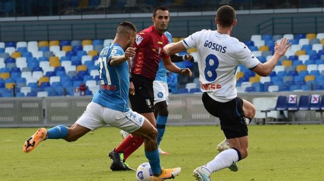 Pertandingan Napoli vs Atalanta di lanjutan Serie A 2020/2021