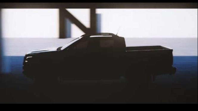 Teaser model baru Nissan Navara