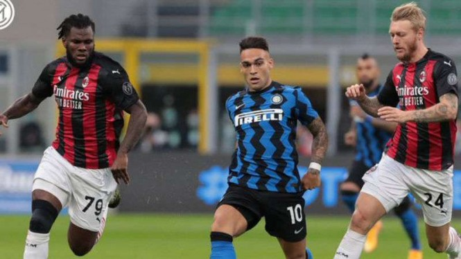 Laga Derby della Madonnina antara Inter Milan vs AC Milan.