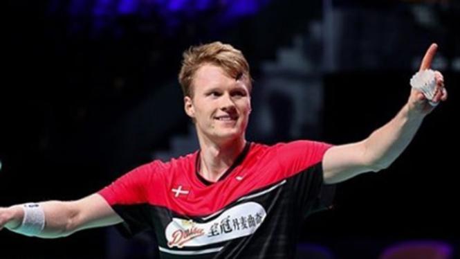 VIVA Bulutangkis: Tunggal putra Denmark, Anders Antonsen.