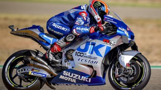 Pembalap Suzuki Ecstar, Alex Rins di MotoGP Aragon 2020