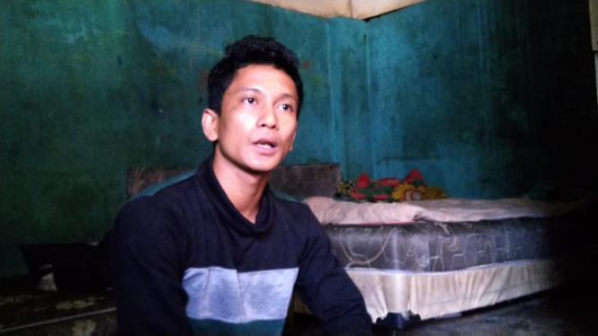 Ayah kandung Rangga, Fadly saat ditemui di Medan