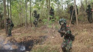 VIVA Militer: Prajurit Yonif 312/Kala Hitam TNI.