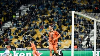 Striker Juventus, Alvaro Morata usai bobol gawang Dynamo Kiev