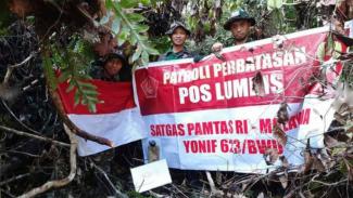 VIVA Militer: Prajurit TNI Yonif 623/BWU patroli perbatasan RI.