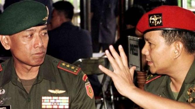 VIVA Militer: Letjen TNI Wiranto dan Mayjen TNI Prabowo Subianto