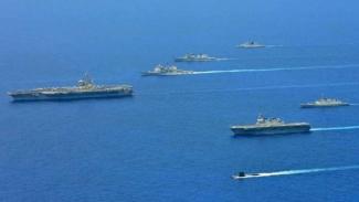 VIVA Militer: Latihan perang gabungan AS, India, dan Jepang