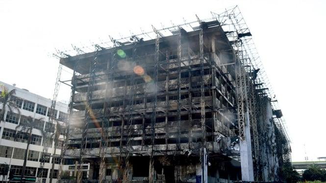 Gedung Kejaksaan Agung pasca kebakaran