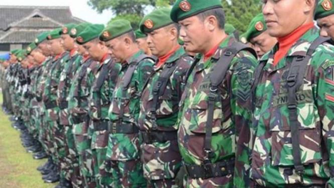 VIVA Militer: Prajurit TNI Kodim 0613/Ciamis (ilustrasi).