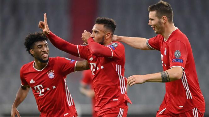 Selebrasi pemain Bayern Munich