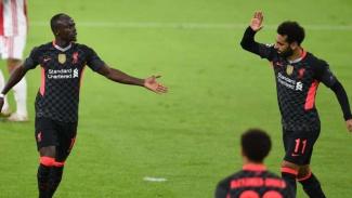 Penyerang Liverpool Sadio Mane dan Mohamed Salah
