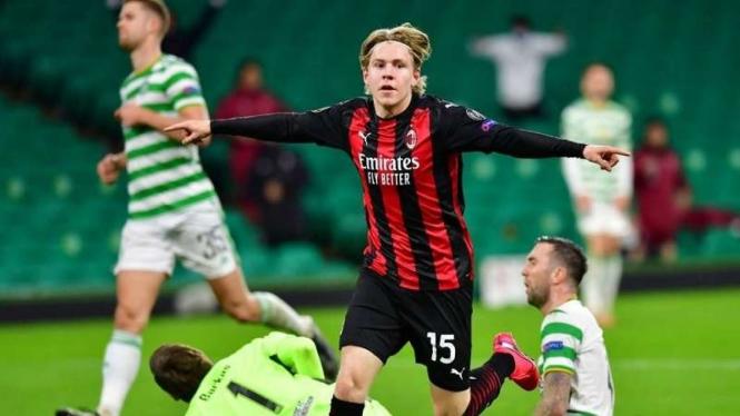 Dahsyatnya Jens Petter Hauge Bintang Kemenangan Milan Atas Celtic